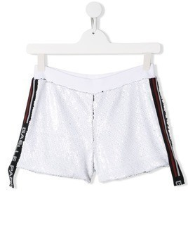 Gaelle Paris Kids sequin shorts - White