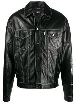 Andrea Crews contrast stitch button-down jacket - Black