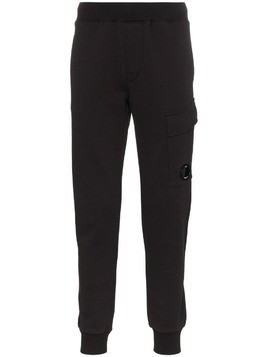 CP Company logo cargo pocket track trousers - Black