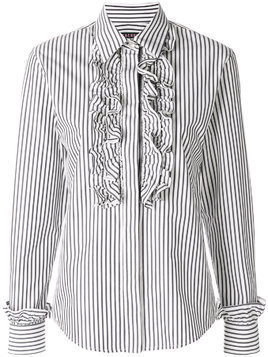 Alexa Chung striped ruffled shirt - Blue