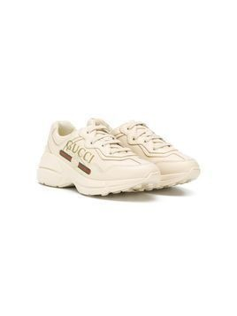 Gucci Kids Rhyton sneakers - NEUTRALS