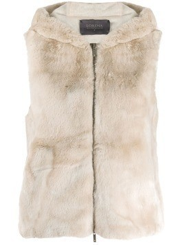 Lorena Antoniazzi faux fur hooded vest - Neutrals