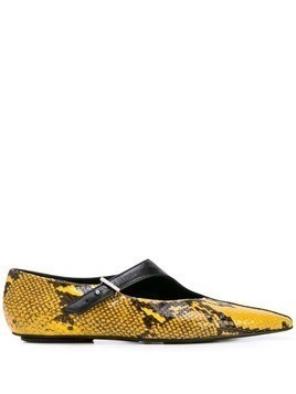 Rosetta Getty snakeskin effect loafers - Yellow