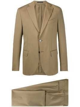 Bagnoli Sartoria Napoli fitted suit - NEUTRALS