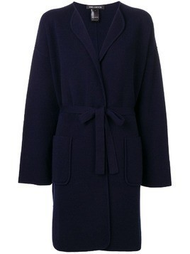 Iris Von Arnim belted long cardigan - Blue
