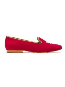 Blue Bird Shoes suede Butterfly slipper - Red