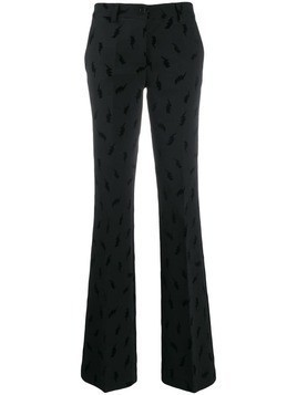 P.A.R.O.S.H. lightning bolt print trousers - Black
