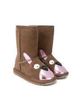 Emu Kids animal face boots - Brown