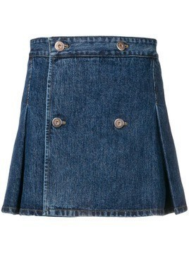 Matthew Adams Dolan pleated denim mini skirt - Blue