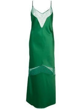 Marina Moscone panelled lace slip dress - Green