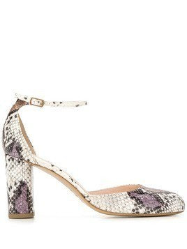 Lenora snakeskin effect pumps - NEUTRALS