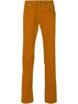 Jacob Cohen - straight leg trousers - Herren - Cotton/Polyester/Spandex/Elastane/Lyocell - 36 - Yellow & Orange