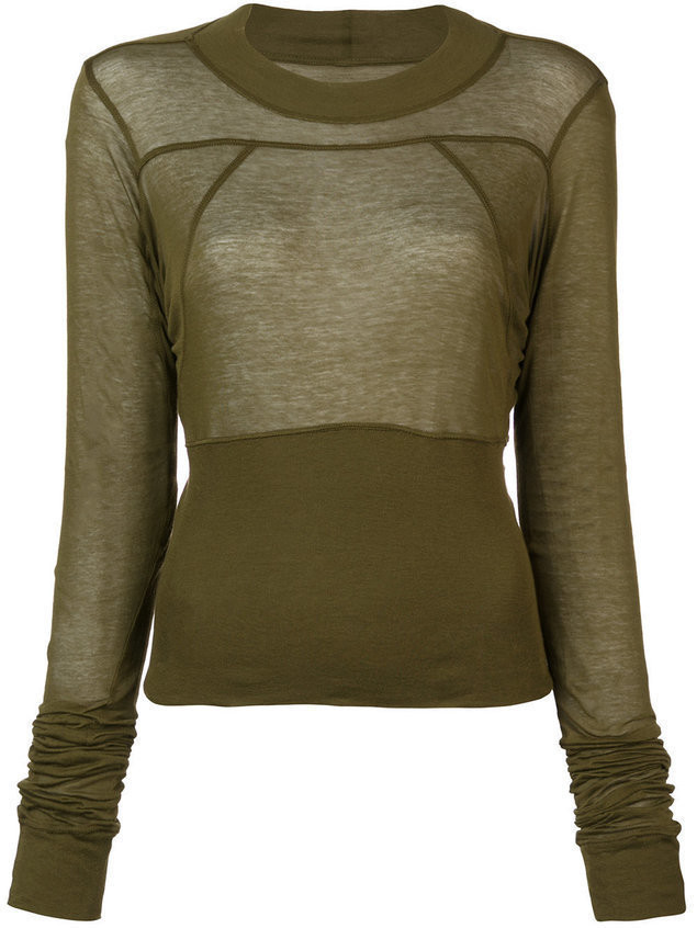 Rick Owens Cropped Plinth blouse - Unavailable