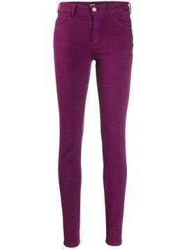 Just Cavalli embroidered skinny jeans - Purple