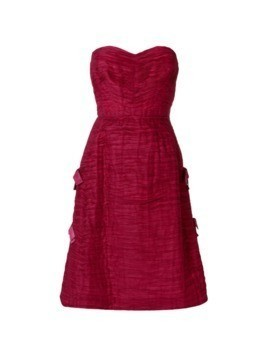 William Vintage SYBIL CONNOLLY strapless dress - Red