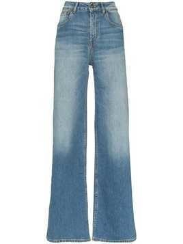 Rockins high-rise wide-leg jeans - Blue