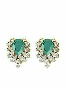 Anton Heunis Julie crystal-embellished earrings - Green