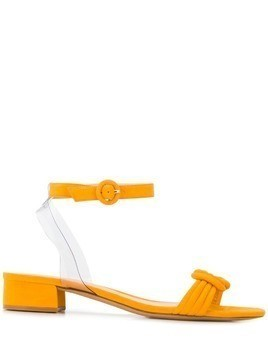 Alexandre Birman knot low heel block sandals - Yellow