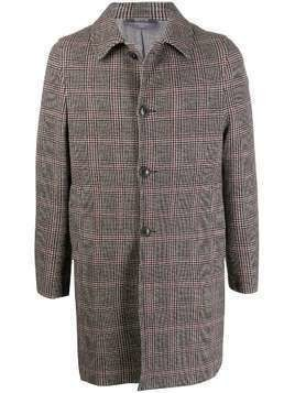 Circolo 1901 houndstooth check single-breasted coat - Neutrals