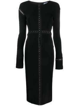Mugler longsleeved midi dress - Black