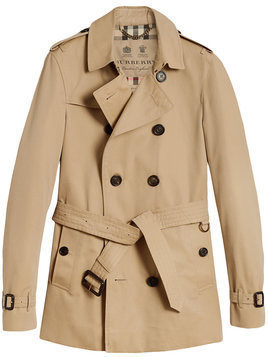 Burberry - The Chelsea Short Trench Coat - Herren - Cotton/Viscose - 48 - Brown