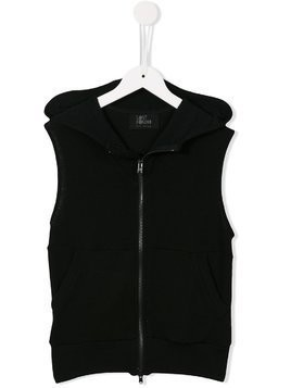Lost And Found Kids zipped vest - Black