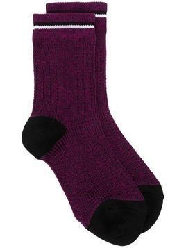 Marni speckled knit socks - PURPLE