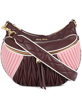 Miu Miu Rider matelassé shoulder bag - Pink & Purple