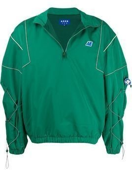 Ader Error logo embroidered toggle detail jacket - Green