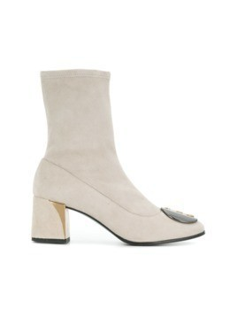 Fabi embellished ankle boots - Neutrals