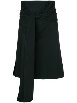 Romeo Gigli Pre-Owned knot detail wrapped skirt - Black