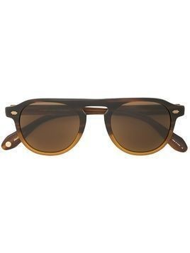 Garrett Leight Harding aviator-style sunglasses - Brown