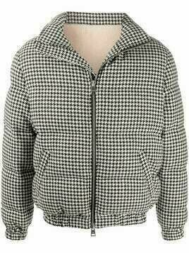 AMI houndstooth-pattern down jacket - Black