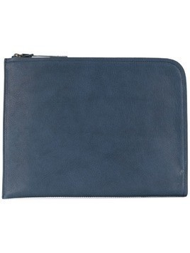 Officine Creative tablet zipped clutch - Blue