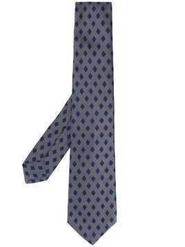 Kiton diamond pattern tie - Grey