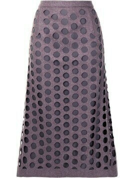 Maison Margiela cut-out layered skirt