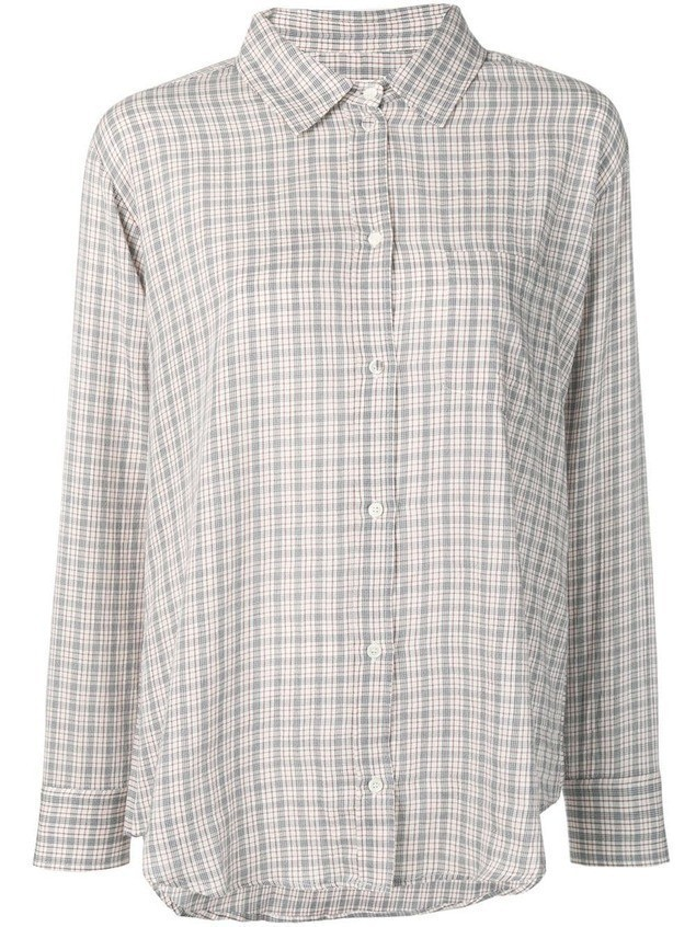 Masscob Brien check shirt - White