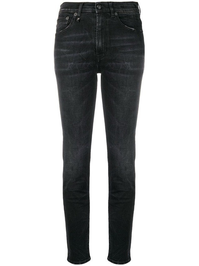 R13 high waisted skinny jeans - Black