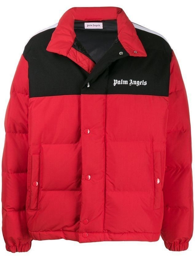 Palm Angels padded logo jacket - Red