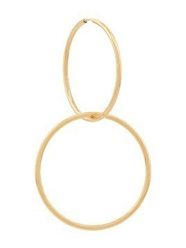Maria Black Seniorita Hoop 35 and Circle Rock Charm earring - Gold