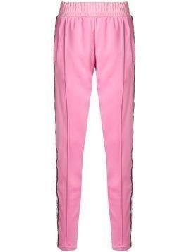 Chiara Ferragni Eye motif side stripe trousers - Pink