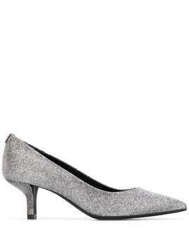 Michael Kors Collection mid-heel glitter pumps - Metallic