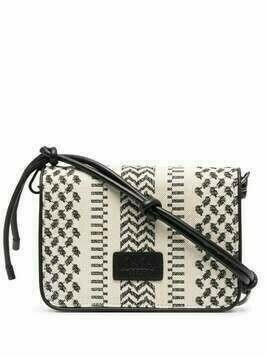 Lala Berlin Eline chevron-knit crossbody bag - White