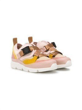 Chloé Kids buckled strap sneakers - Pink