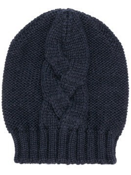 Semicouture cable knit beanie - Blue