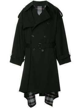 Juun.J oversized trench coat - Black