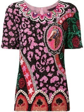 Manish Arora sequinned shortsleeved top - Multicolour