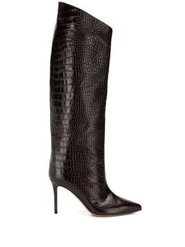 Alexandre Vauthier Alex crocodile-embossed boots - Brown