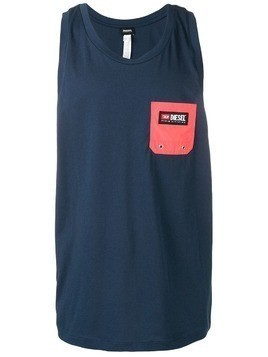 Diesel front pocket vest top - Blue