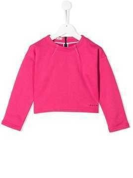 Marni Kids cropped sweatshirt - Pink